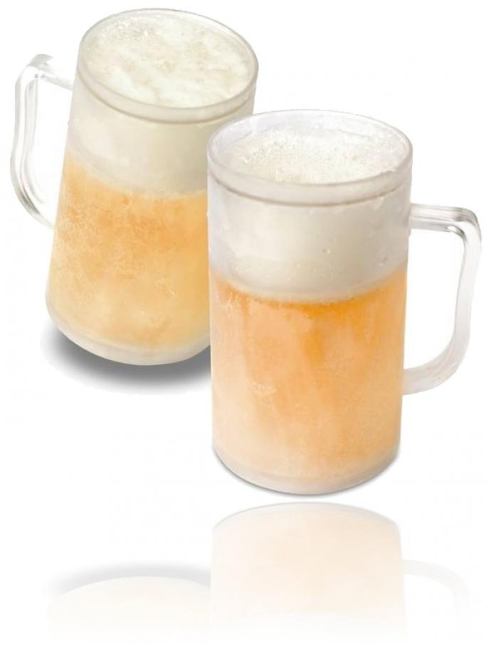 Cadeautip bevroren bierglas (2 stuks)