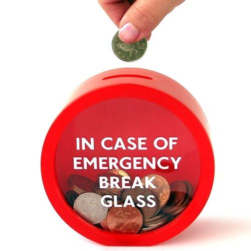 Cadeautip break glass moneybox