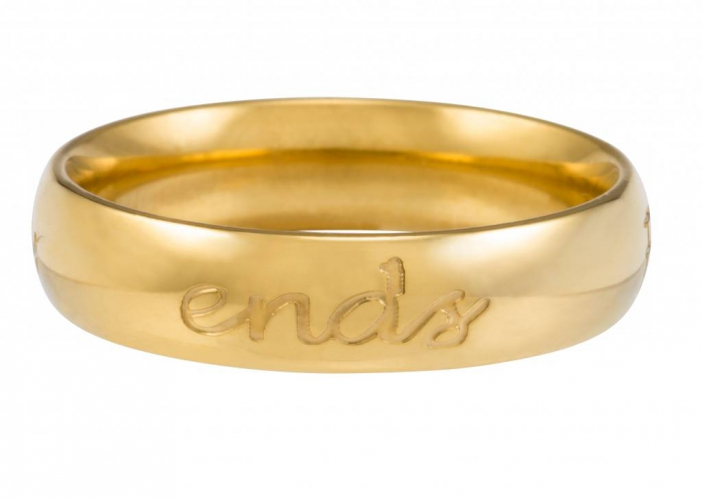Cadeautip ring forever never ends geelgoud