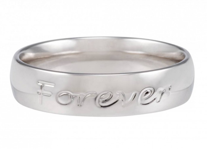 Cadeautip speechless jewelry ring forever never ends witgoud