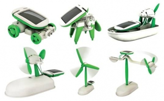 Cadeautip 6 in 1 Solar Robot Kit