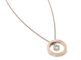 Cadeau Ketting - live the life you love, love the life you live - roségoud