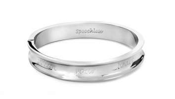 Cadeau Speechless Jewelry Armband follow your heart witgoud