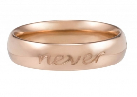 Cadeautip speechless jewelry ring forever never ends rosegoud